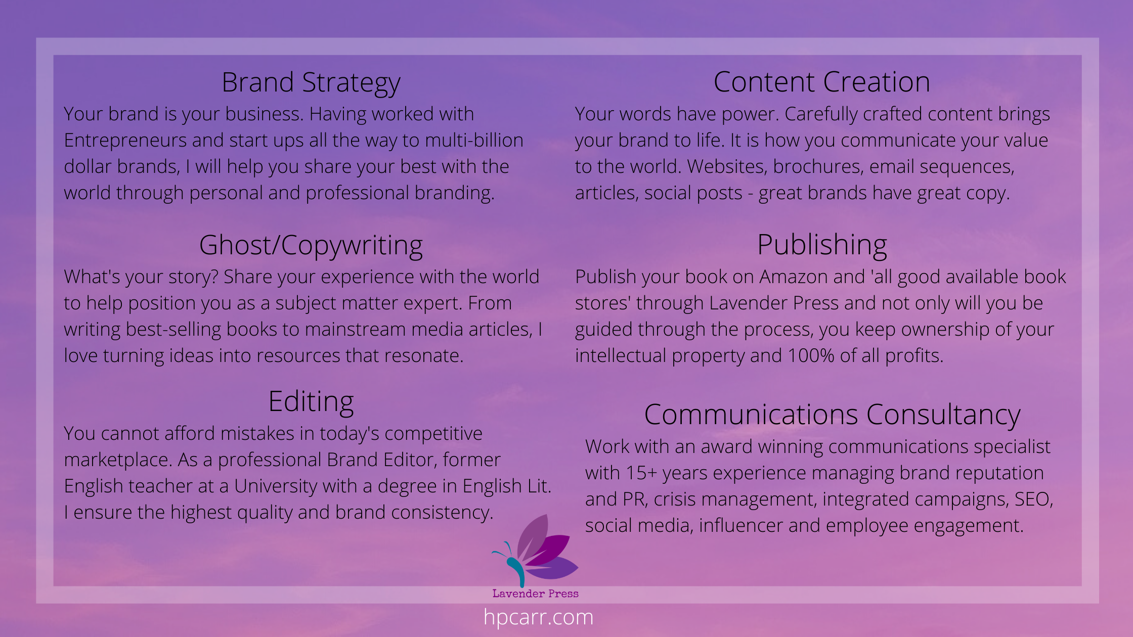 Lavender Press - Content strategy & services